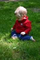 Baby in the Grass 2 by ArtistStock