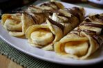 Banana, Nutella and Maple Syrup Crepe Breakfast by claremanson