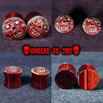 9-16 Zombie Strecher Plugs by Undead-Art