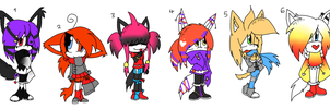 Sonic Chibi Adoptables +OPEN+ by Sky-Yoshi