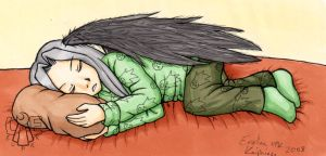 Goodnight, cute Sephiroth by Lord-Evell