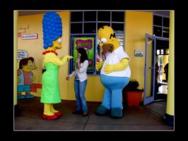 Marge and Homer Simpson by FairieGoodMother