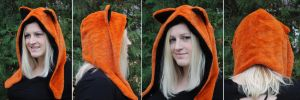 Minky Orange Fox Hood by akiseo