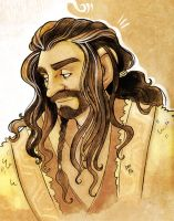 Pensive Thorin by nerdeeart
