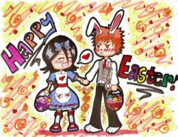 Happy Easter - IchiRuki by MagicKnightNova