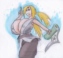 Tsunade With A Scroll by weasselK