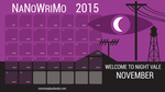 NANOWRIMO Wallpaper 2015 Welcome to Nightvale by Phantasm09