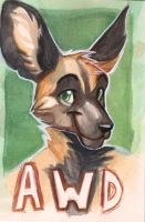 AWD Badge Painting by OrcaOwl