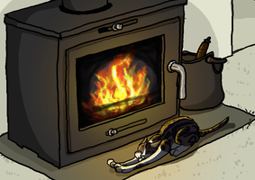 Fish by the Fire by dandypandy12