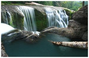 The Waterfall Pool by La-Vita-a-Bella
