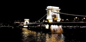 bridge over the Danube . Hungary... by DemonSD