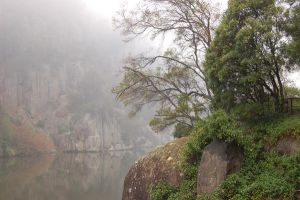 Fog Rock Riverside by DruidWuStock