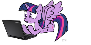 Twilight Sparkle Discovers The Internet by Tim244