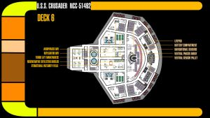 U.S.S. Crusader Deck 6 Plans by TrekkieGal