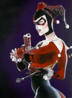 Harley Quinn: Pin-Up by Jackolyn