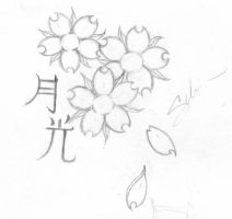 Cherry Blossom Tattoo Design by linakins