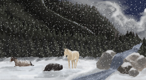 While the Snow Gently Falls by mountainview-studios