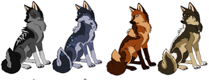 Adoptables*Closed* by MonsoonWolf