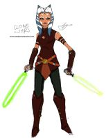 Ahsoka Tano Sketch by XanderComicsInc