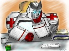 """Ratchet: """"Why Me?"""" by DarkXenith"""