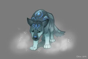 Ice Wolf Cub by Okha