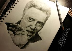 Christopher Walken Drawing by Tiny Cass by CassandraWilson