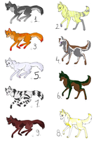 Wolf Adoptables 23 OPEN by BlueFox-Adopt-Agency
