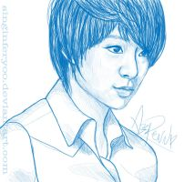 Amber Liu Sketch by singinferyoo