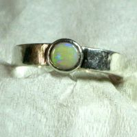 Opal Cabochon Ring by contrarymary