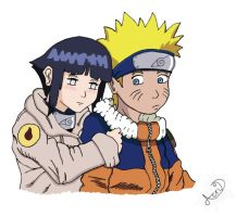 NarutoXHinata Colored by Acrid