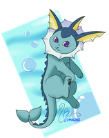 DAY 13_Favorite WATER type - VAPOREON by FoMNLiNX