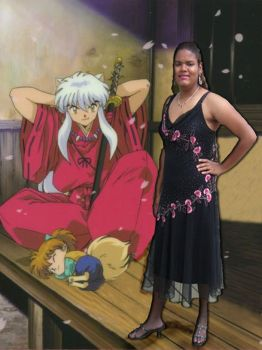 my self portrait with inuyasha by nightshade18