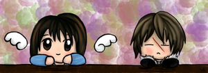 Squall and Rinoa by KingdomOfLight1