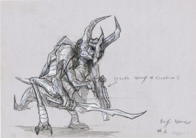 Bug Warrior 03 Drawing by Brollonks