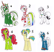 Point Adoptables - 1 LEFT by OfficerPony