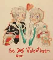 Be our Valentine by Tikicchii