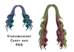 Candy hair PNG by StarsColdNight