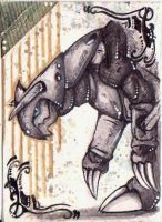 (ACEO)Aggron by PurpleWish23