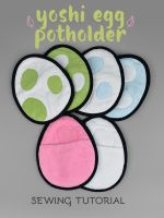 Sewing Tutorial - Yoshi Egg Potholder by SewDesuNe