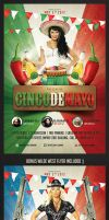 Cinco de Mayo Party Flyer by saltshaker911