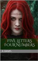 Book cover - Five Letters Four Numbers by A Davis by CathleenTarawhiti