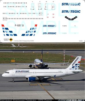 1/144 Airbus A320-211 Strategic Airlines F-GSTS by WombatsModels