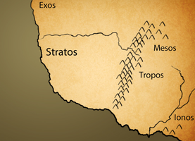 Map of Stratos and Neighboring Kingdoms by Ezekeil42