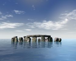 Stonehenge in water by Cadish