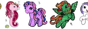 10 pts each MLP Adoptions Pg 2 by LadyHexaKnight