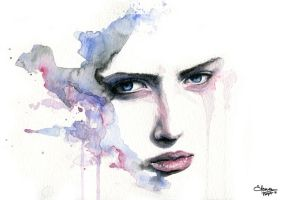 Blue eyes - Workshop with Agnes-Cecile -2 by tsuyachan