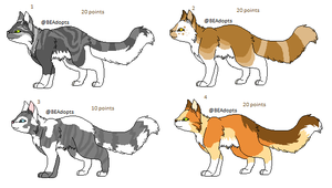 [Point Adopts] Cats 1 by BEAdopts