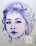Chi Pu (Ballpoint Pen) by SongDuong