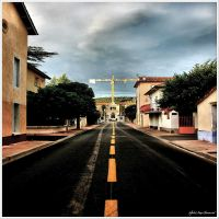 The yellow line... by Michel-Lag-Chavarria