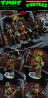 Custom Nickelodeon TMNT Repainted Figure Set by MintConditionStudios